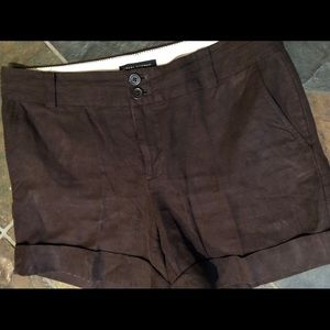 Banana Republic brown linen shorts